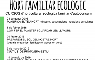 hort familiar ecològic 2016