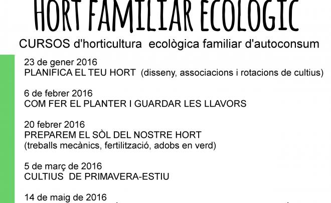 Curs d'hort familiar ecològic (inscripcions obertes)